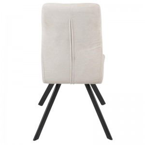 TOBY SIDE CHAIR IN BLACK/BEIGE