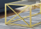 "COFFEE TABLE - 44""L / GOLD METAL WITH TEMPERED GLASS"