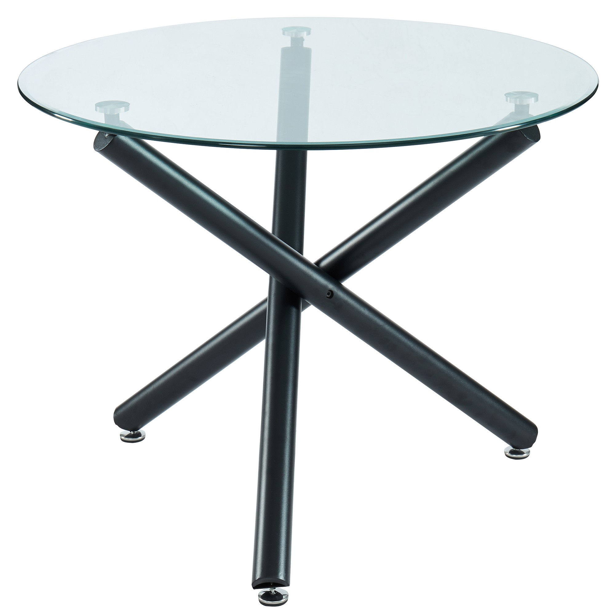 Picture of: Suzette 40 Round Dining Table In Black By Worldwide Homefurnishings Inc