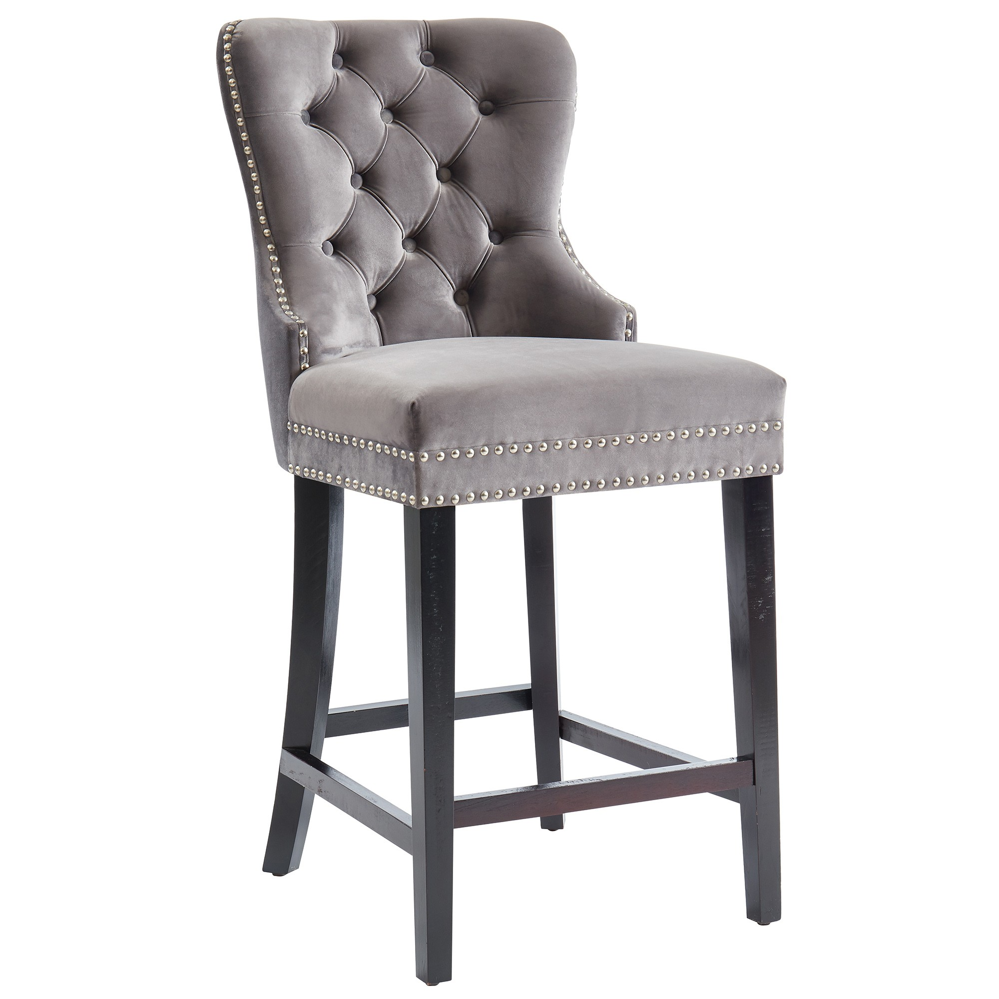 Remarkable Rizzo 26 Counter Stool In Grey By Worldwide Creativecarmelina Interior Chair Design Creativecarmelinacom
