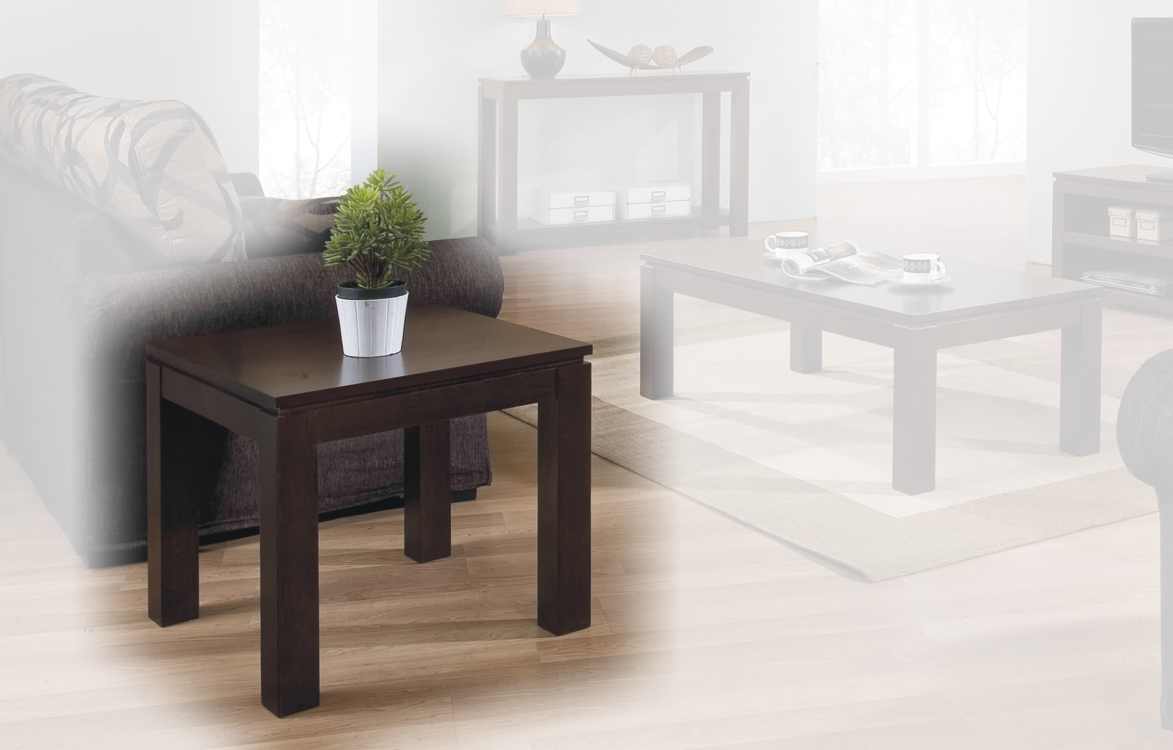 Alexis End Table In Espresso By Winners Only
