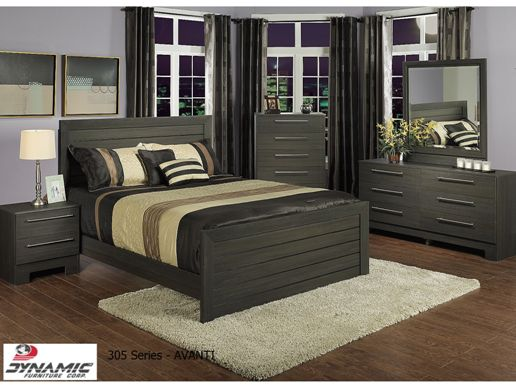 305 SERIES - AVANTI BEDROOM SUITE IN PICTOR PINE DARK