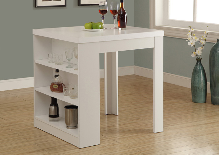 "I 1345 - WHITE HOLLOW-CORE 32""X 36"" COUNTER HEIGHT TABLE"