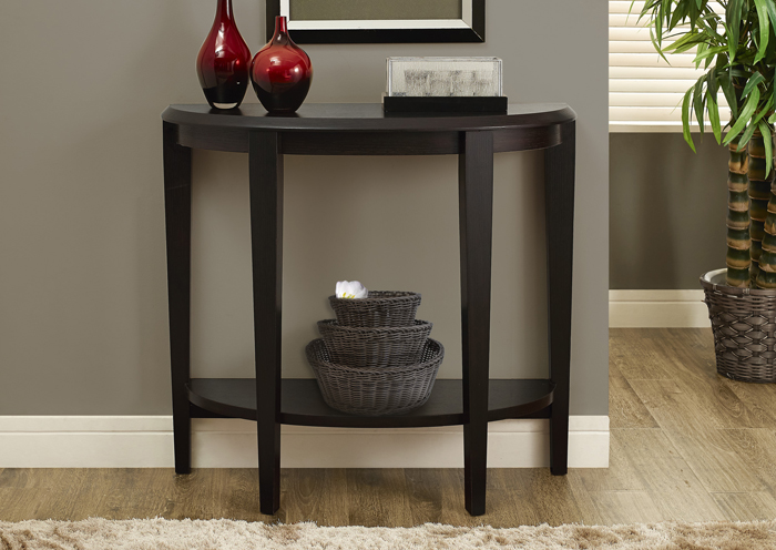 "I 2450 - ACCENT TABLE – 36""L / CAPPUCCINO HALL CONSOLE"