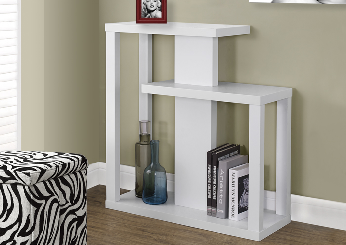 "I 2471 - WHITE 32""L HALL CONSOLE ACCENT TABLE"