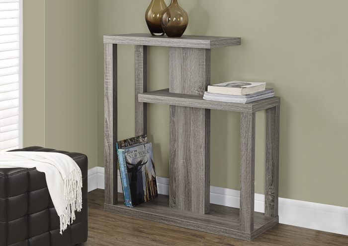 "I 2472 - DARK TAUPE RECLAIMED-LOOK 32""L HALL CONSOLE ACCENT TABLE"