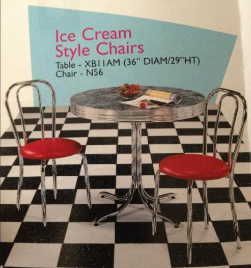 Ice Cream Style Chairs