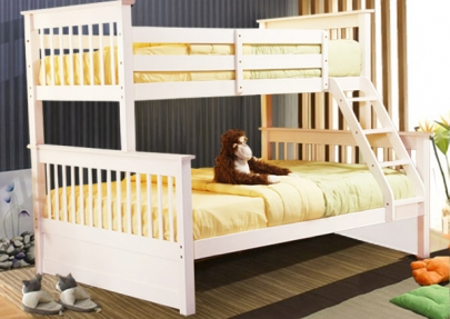 Paloma Twin Double Bunk Bed Frame White Winnipeg Furniture