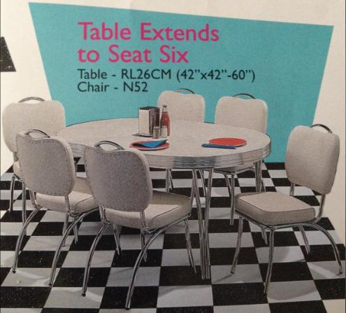 Table Extends to Seat Six