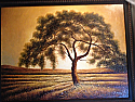OIL PAINTING WITH FRAME - TREE