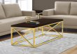 I 3238 - COFFEE TABLE - CAPPUCCINO WITH GOLD METAL BY MONARCH SPECIALTIES INC