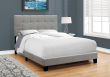 I 5920F - BED - FULL SIZE / GREY LINEN BY MONARCH SPECIALTIES INC