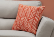 "I 9206 - PILLOW - 18""X 18"" / ORANGE GEOMETRIC DESIGN / 1PC"