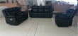 Cody - 3Pc Recliner Set - Sofa, Loveseat and Chair is Black Leather Gel