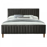 "Hannah 78"" King Platform Bed in Charcoal by Worldwide Homefurnishings Inc"