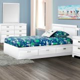 262 Ashbro  - Twin Mates Bed in White by Dynamic Furniture