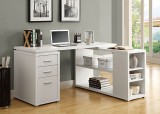I 7023 - WHITE HOLLOW-CORE LEFT OR RIGHT FACING CORNER DESK by Monarch Specialties Inc
