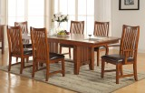 "ALBANY 96"" TABLE WITH 4 SIDE CHAIRS & 2 ARM CHAIRS IN MISSION RUSSET FINISH BY WINNERS ONLY"