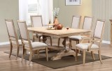 "AVERY 98"" PEDESTAL TABLE WITH 2 ARM CHAIRS & 4 SIDE CHAIRS BY WINNERS ONLY"