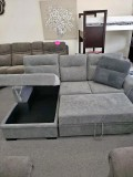 Clara - Pull Out Sofa Bed in Grey or Dark Grey with Left or Right Hand Facing Chaise