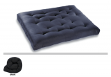 Futon Mattress in Black with Poly Cotton Blend - Double