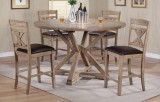 "Grandview - 60"" Round Tall Table Only w/ Drop Leaves by Winners Only"