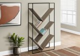 "I 2201 - BOOKCASE - 60""H / DARK TAUPE / BLACK METAL BY MONARCH SPECIALTIES INC"