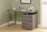 "I 7326 - DARK TAUPE RECLAIMED-LOOK LEFT OR RIGHT FACING 48""L COMPUTER DESK"