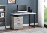 "I 7409 - COMPUTER DESK - 48""L / GREY RECLAIMED WOOD / BLACK METAL BY MOARCH SPECIALTIES INC"