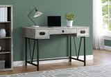 "I 7413 - COMPUTER DESK - 48""L / GREY RECLAIMED WOOD / BLACK METAL BY MONARCH SPECIALTIES INC"