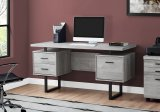 "I 7417 - COMPUTER DESK - 60""L / GREY RECLAIMED WOOD / BLACK METAL BY MONARCH SPECIALTIES INC"
