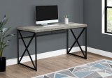 "I 7451 - COMPUTER DESK - 48""L / GREY RECLAIMED WOOD / BLACK METAL BY MONARCH SPECIALTIES INC"