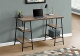 "I 7523 - COMPUTER DESK - 48""L / DARK TAUPE / BLACK METAL BY MONARCH SPECIALTIES INC"