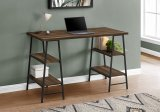 "I 7525 - COMPUTER DESK - 48""L / BROWN RECLAIMED WOOD / BLACK METAL BY MONARCH SPECIALTIES INC"