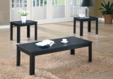 I 7840P - BLACK 3PCS COFFEE TABLE SET By Monarch Specialties Inc