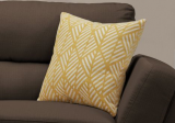 "I 9204 - PILLOW - 18""X 18"" / YELLOW GEOMETRIC DESIGN / 1PC"