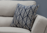 "I 9212 - PILLOW - 18""X 18"" / DARK BLUE GEOMETRIC DESIGN / 1PC"