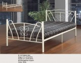 "IF-152 39"" SINGLE PLATFORM BED IN OFF WHITE"
