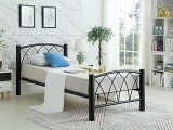 IF-182 - Twin Metal Bed Frame in Black By International Furniture