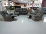 Brody - 3Pc Recliner Set - Sofa, Loveseat and Chair in Grey Fabric