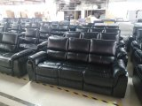Emily - 3PC Sofa, Loveseat and Chair Recliner in Black Leather Gel