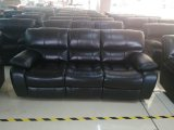 Bentley - 3Pc Sofa, Loveseat & Chair Recliner in Black Leather Gel