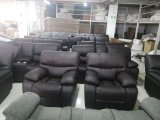 Bentley - 3Pc Sofa, Loveseat & Chair Recliner in Brown Leather Gel
