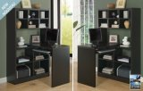 I 7021 - Cappuccino Hollow-Core Left or Right Side Corner Desk By Monarch Specialties Inc