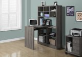 I 7041 - DARK TAUPE RECLAIMED-LOOK LEFT / RIGHT FACING CORNER DESK BY MONARCH SPECIALTIES INC