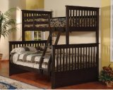 PALOMA TWIN/ DOUBLE BUNK BED FRAME IN ESPRESSO
