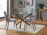 Rocca/Cora 5pc Dining Set in Grey