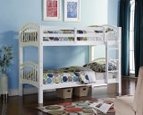SHANGHAI TWIN / TWIN BUNK BED FRAME IN WHITE