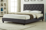 T2366 - Double Platform Bed Frame in Linen Charcoal By Titus Furniture