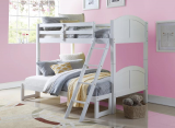 TOMBOY SINGLE OVER DOUBLE BUNK BED IN WHITE